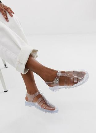 Прозрачные силиконовые босоножки сандалии асос asos jelly