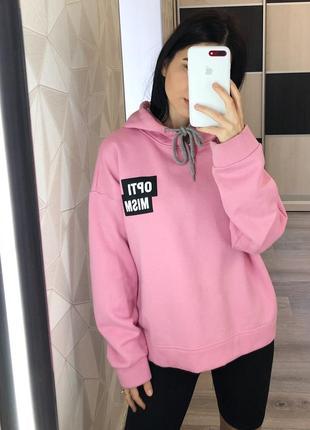 Ярко-розовое худи с капюшоном на флисе от vero moda