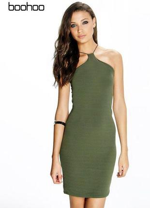 Новое платье с резиновыми шлейками boohoo