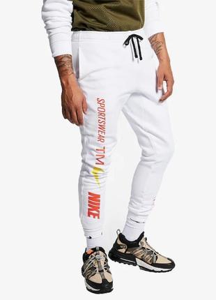 Новые спортивные штаны nike белые l оригинал брюки найк