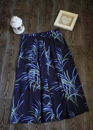 Винтажная юбка миди с принтом в стиле бохо этно