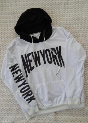 Худи кофта оверсайз new york