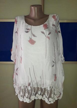 Красивенная нежная блуза из шёлка