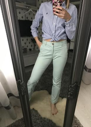 Штани h&m м'ятного кольору