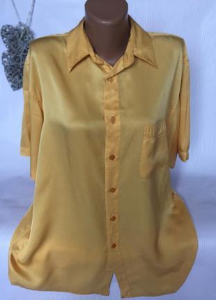 Стильна рубашка шёлк 100% garry