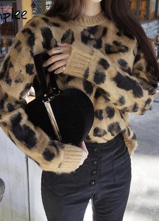 Стильный леопардовый свитерок джемпер 🐆