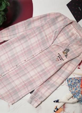 Халат-рубашка love to lounge, 100% хлопок, размер 6-8 или s/xs