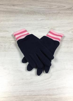 Тёплые зимние перчатки для девочки флисовые h&m
