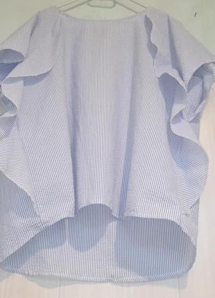 Очаровательная блуза с воланами батал