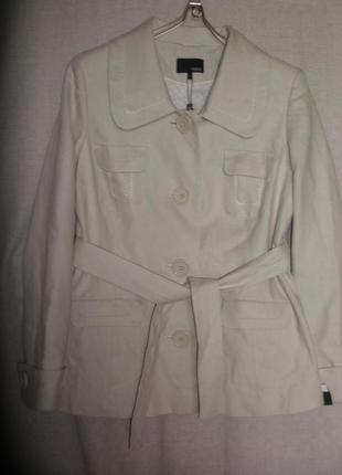 Стильный льняной жакет пиджак с поясом next в стиле сафари