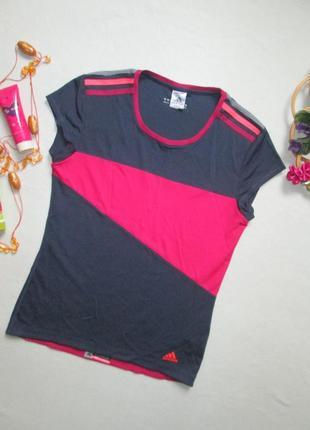 Фирменная классная спортивная футболка с контрастными вставками adidas оригинал