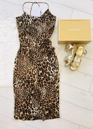 Хит 2020 леопардовое платье сарафан халат на запах
