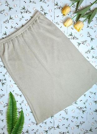 🎁1+1=3 оливковая трикотажная юбка миди lotos на резинке, размер 50 - 52, большой размер