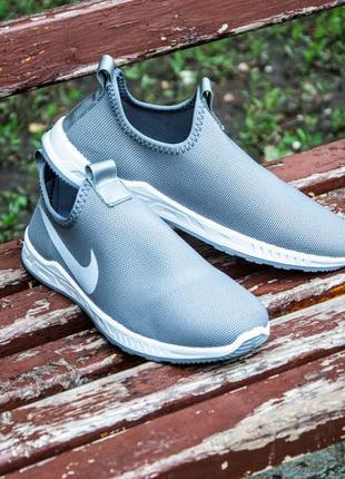 Сірі кросівки без шнурків, сліпони