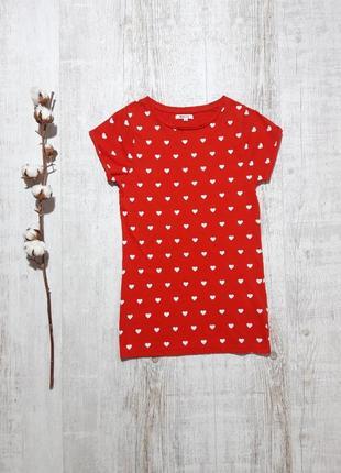 Красивая красная футболка в сердечки mshll girl