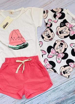 Комплект летней одежды на девочку 3-4 года
