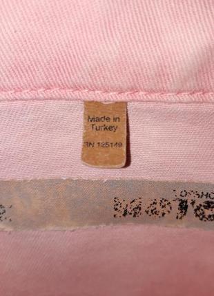 🎁1+1=3 стильная пудрово-розовая укороченная джинсовая куртка topshop, размер 42 - 446 фото