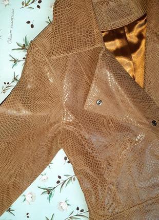🎁1+1=3 кожаная куртка косуха натуральная кожа oxzone под питона, размер 44 - 464 фото
