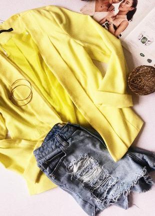 Пиджак лимонный atmosphere  яркий