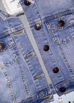 🎁1+1=3 фирменная женская джинсовая куртка джинсовка denim co оригинал, размер 42 - 445 фото