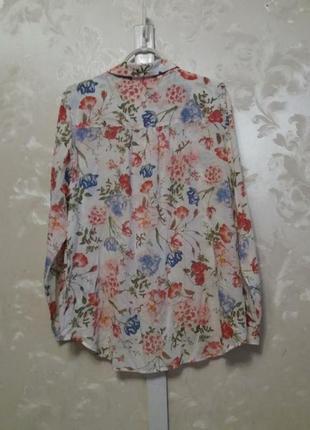 Тоненькая вискозная рубашка в цветочный принт m&s2 фото