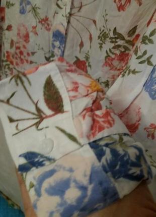 Тоненькая вискозная рубашка в цветочный принт m&s5 фото