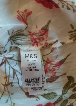 Тоненькая вискозная рубашка в цветочный принт m&s6 фото