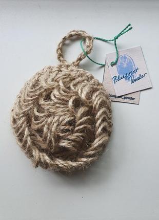 Натуральная эко мочалка из джута джутовая эко мочалка для тела для посуды