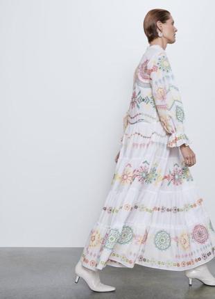 Вышитое хлопковое летнее платье2 фото