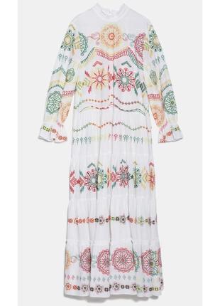 Вышитое хлопковое летнее платье3 фото