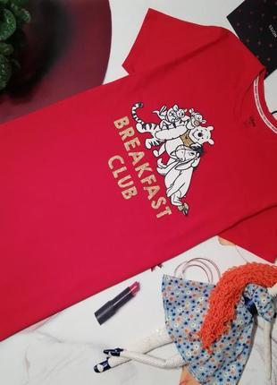 Ночная сорочка marks&spencer, вискоза, размер 12-14 или l/xl