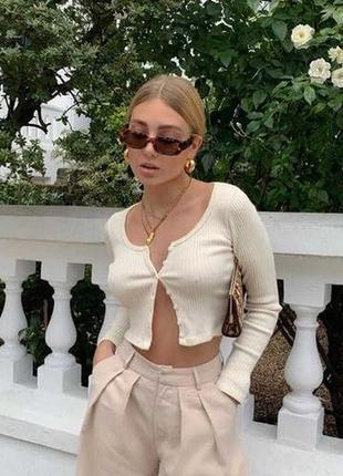 Очки окуляри винтажные стильные в стиле 90-х трендовые леопард солнцезащитные новые