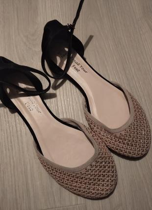 Брендовые туфли балетки next