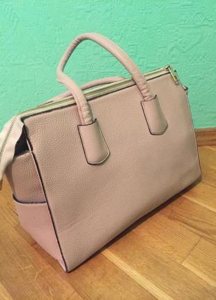 Нежная сумочка светло-розовая