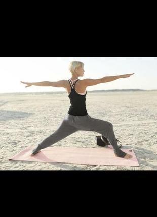 Штаны для йоги в двух цветах  серый и цвет пудры