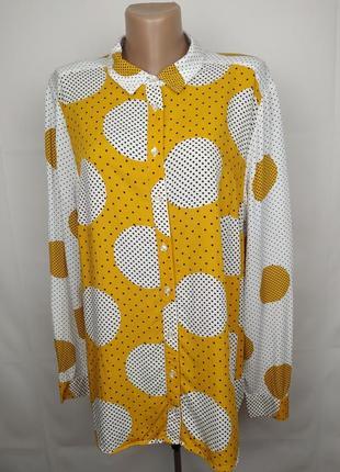 Блуза новая шикарная в горохи большого размера tu uk 20/48/3xl