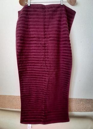 Полотенце  махровое miomare®  50х100см темно бордовое