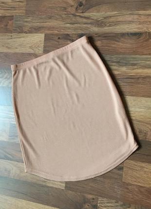 Стильная бежевая юбка boohoo