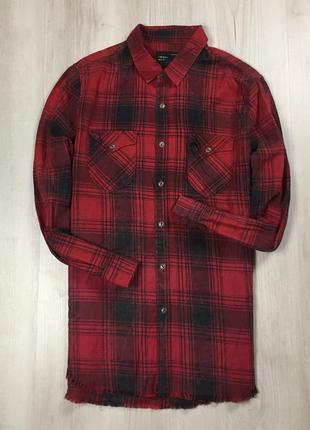 Z6 рубашка приталенная zara man зара1 фото