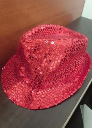 Шляпа с пайетками «диско»