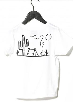 Премиум бренд футболка с кактусом grobetrotter 4 года