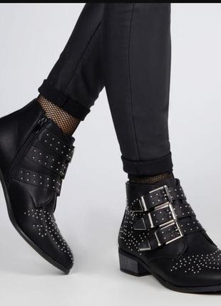 Bronx кожаные полу ботинки ( в рок стиле)