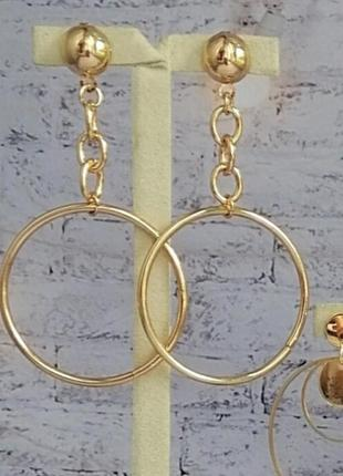 Серьги кольца на гвоздиках
