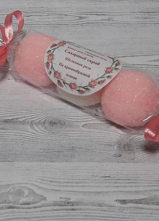 Сахарный скраб для тела шелковая роза