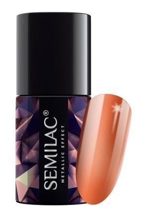 248 semilac metallic effect orange
