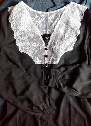 🔴суперстильная блуза-рубашка с ажурным кружевом от asos🔴