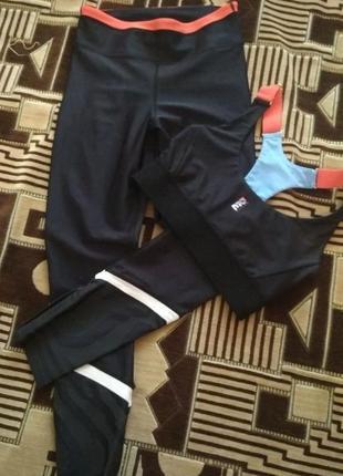 Спортивный костюм комплект леггинсы топ лосины p.e.nation для фитнеса