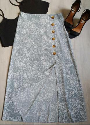 Юбка миди, юбка макси, юбка на пуговицах, юбка трапеция, легкая юбка