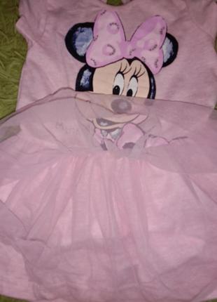 Нарядное платье с минни маус фатиновая юбка
