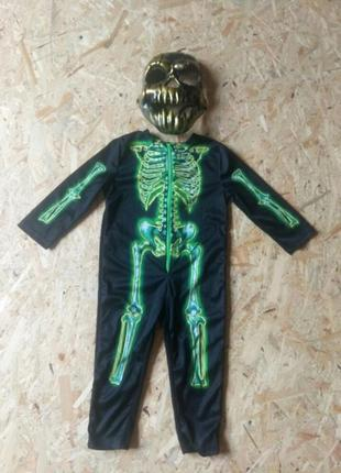 Карнавальный костюм 2 3 года на хэллоуин скелет